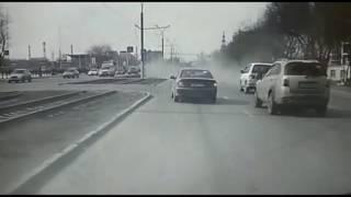 Авария  BMW и Daewoo Matiz в Алмате
