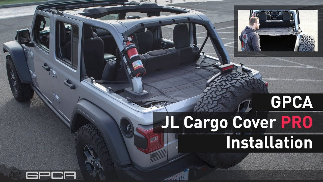 7bfa85c3 GPCA Jeep Wrangler JL Cargo Cover PRO Intro and Installations - YouTube