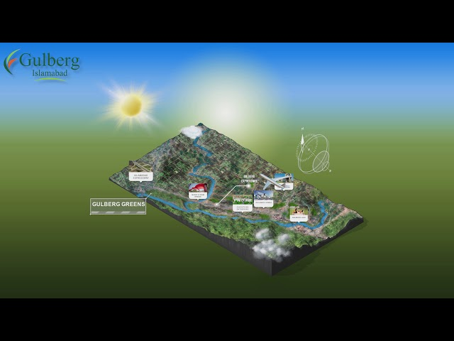 3D ANIMATED MAP | GULBERG ISLAMABAD