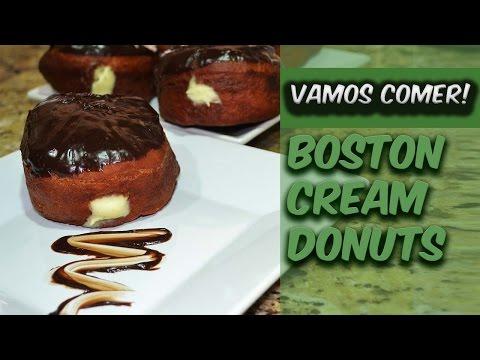 Boston Cream Donuts - Vamos Comer!