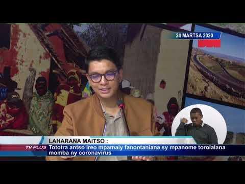 ÉDITION SPÉCIALE 12H00 DU 24 MARS 2020  BY TV PLUS MADAGASCAR