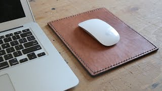 Making a Leather Mousepad