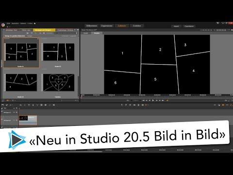 Neu in Pinnacle Studio 20 5 Patch Geteilter Bildschirm Vorlagen Video Tutorial Deutsch