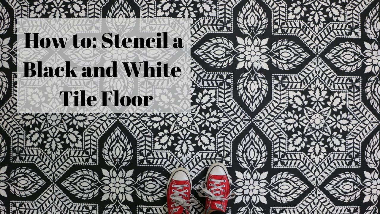how to stencil a pinterest worthy tile floor for under 100 youtube rh youtube com