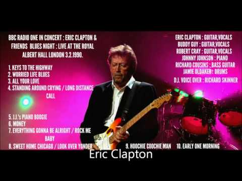 ERIC CLAPTON AND FRIENDS BLUES NIGHT AT THE ROYAL ALBERT HALL LONDON 1990