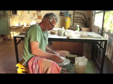 Pietro Madelena Throwing Demonstration At La Meridiana School Of Ceramics, Tuscany