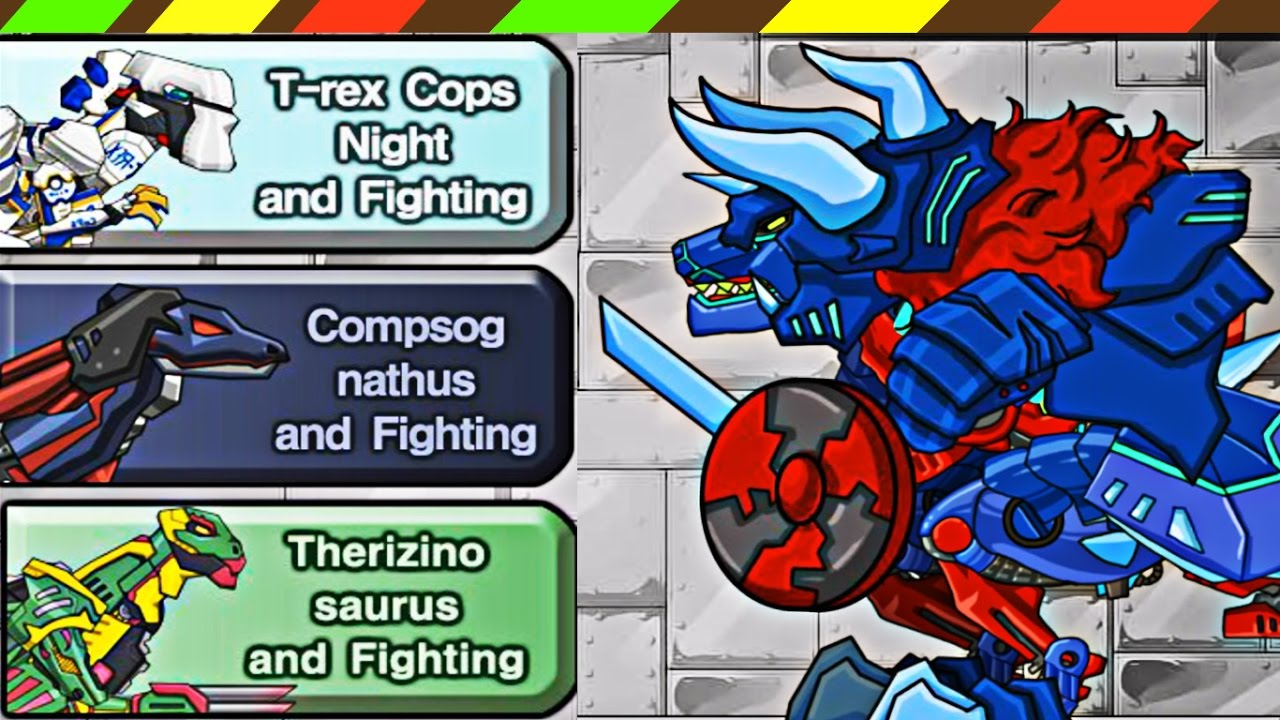 Dino Robot: Tyrano Red and Tricera Blue