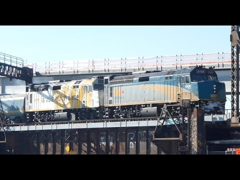Canadian Trains: Montreal - VIA, EXO & Amtrak At Peel Basin On The Lachine Canal
