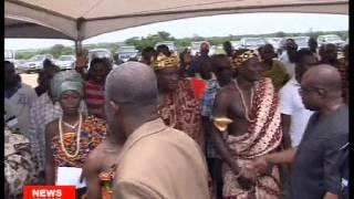 Vice President Amissah-Arthur inaugurates Rice Mill in Volta Region