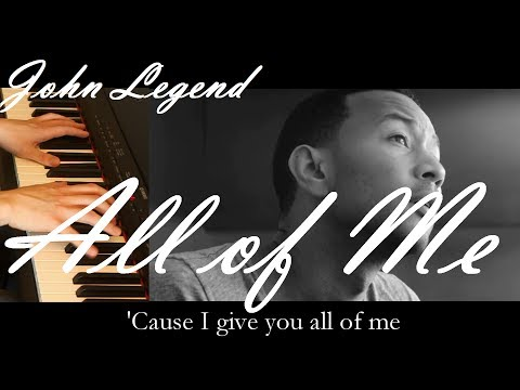 JOHN LEGEND - ALL OF ME / *Accurate* Instrumental & Lyrics - FREE SHEET MUSIC