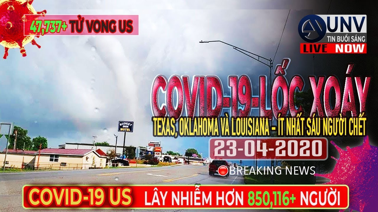 Tin tức trực tiếp buổi sáng ở mỹ 23-04-2020 | BREAKING NEWS | UNV Tin Buổi Sáng【A1356】