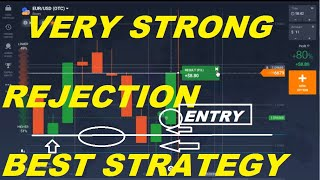 IQ OPTION CANDLESTICKS REJECTION TRADING | BEST TRADING STRATEGY URDU HIND