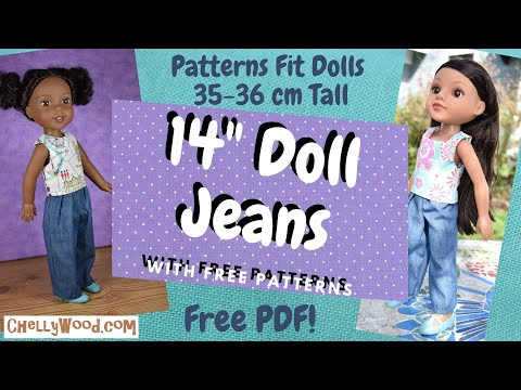 """The Shift Doll Clothes Sewing Pattern for 16/"""" Poppy Parker /& Tulabelle Dolls"""