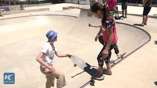 War children embrace 1st skate park in Syria