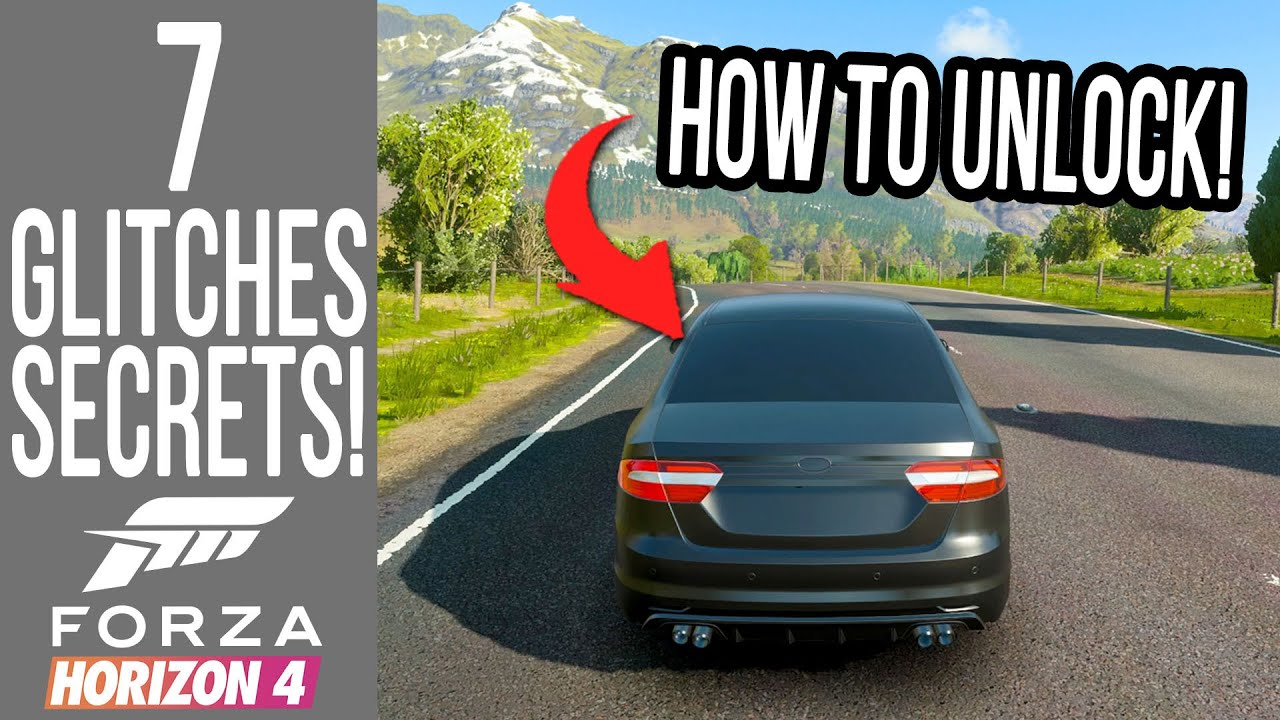 Download Forza Horizon 4 - 7 Secrets, Glitches & Easter Eggs! NULL CAR UNLOCKED AND PLAYABLE!