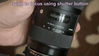 Demo of Viltrox EF-M2ii autofocus and aperture problems
