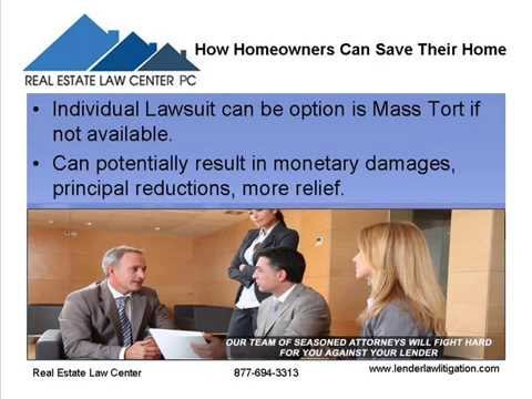 Real Estate Law Center: How Homeowners Can Save Their House