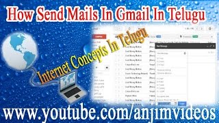 Internet Concepts In Telugu    How To Send Mails in Gmail In Telugu    Internet Basics In Telugu