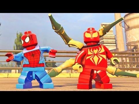 Homem Aranha Desbloqueando o Aço de Detroit: Lego Marvel Vingadores