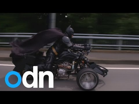 Chibatman: Cruising the streets of Chiba City on his three-wheeled Chibatpod