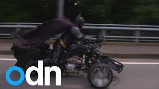 Chibatman: Cruising the streets of Chiba City on his three-wheeled Chibatpod