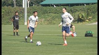 Zlatan Ibrahimovic entrena con Galaxy en Los Ángeles