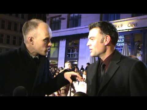 Welsh actor Julian Lewis Jones arrives at Invictus UK Premiere