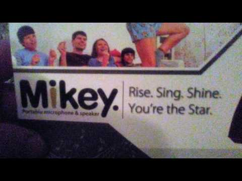 Karaoke-Mike MIKEY: Multipurpose Handheld Wireless Portable Microphone and Speaker for Bluetooth