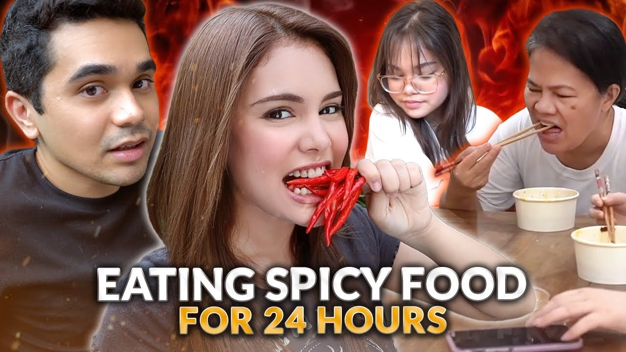 SPICY FOOD FOR 24 HOURS CHALLENGE! | IVANA ALAWI