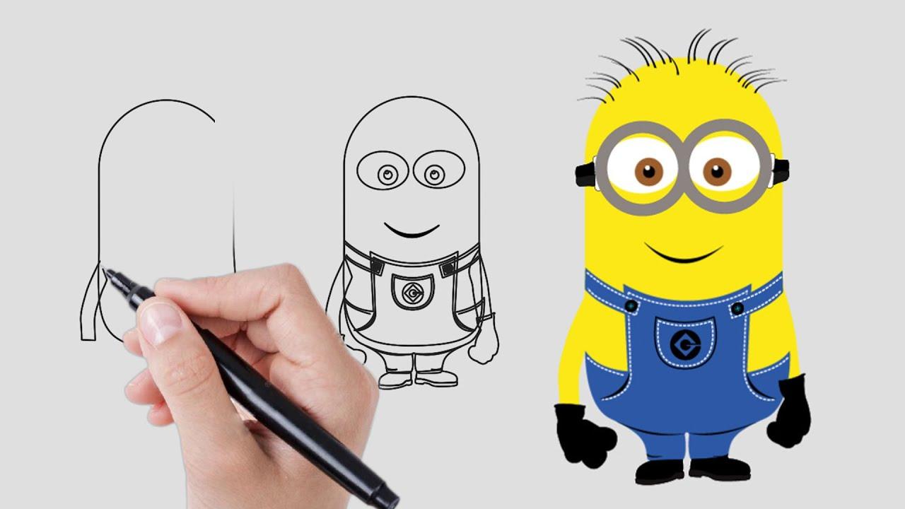 Cómo Dibujar Un Minion Dibujar Minions Paso A Paso Vídeos