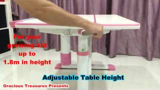Children Ergonomics Study Table Set