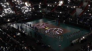 Волейбол. Лазерное шоу.