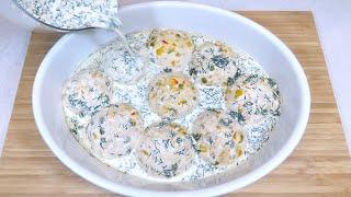 Вкуснее любых котлет только котлеты в духовке Запеченные КОТЛЕТЫ ШАРИКИ с овощами в сливочном соусе