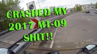 Motorcycle Crash - MT-09 (2017) into crash barrier