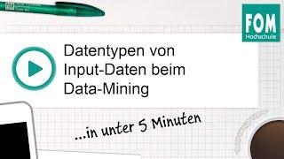 Datentypen von Input Daten beim Data Mining | Video Based Learning