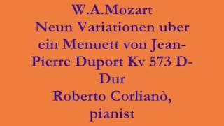 W.A.Mozart Neun Variationen uber ein Menuett von Jean-Pierre Duport Kv 573 D-Dur