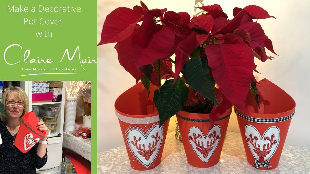 Make a Stag Head Decorative Pot Cover