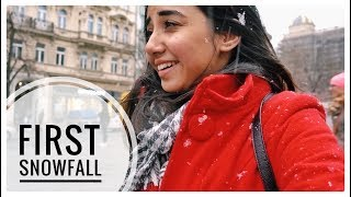 My First SnowFall! | Prague Vlog #1 | MostlySane