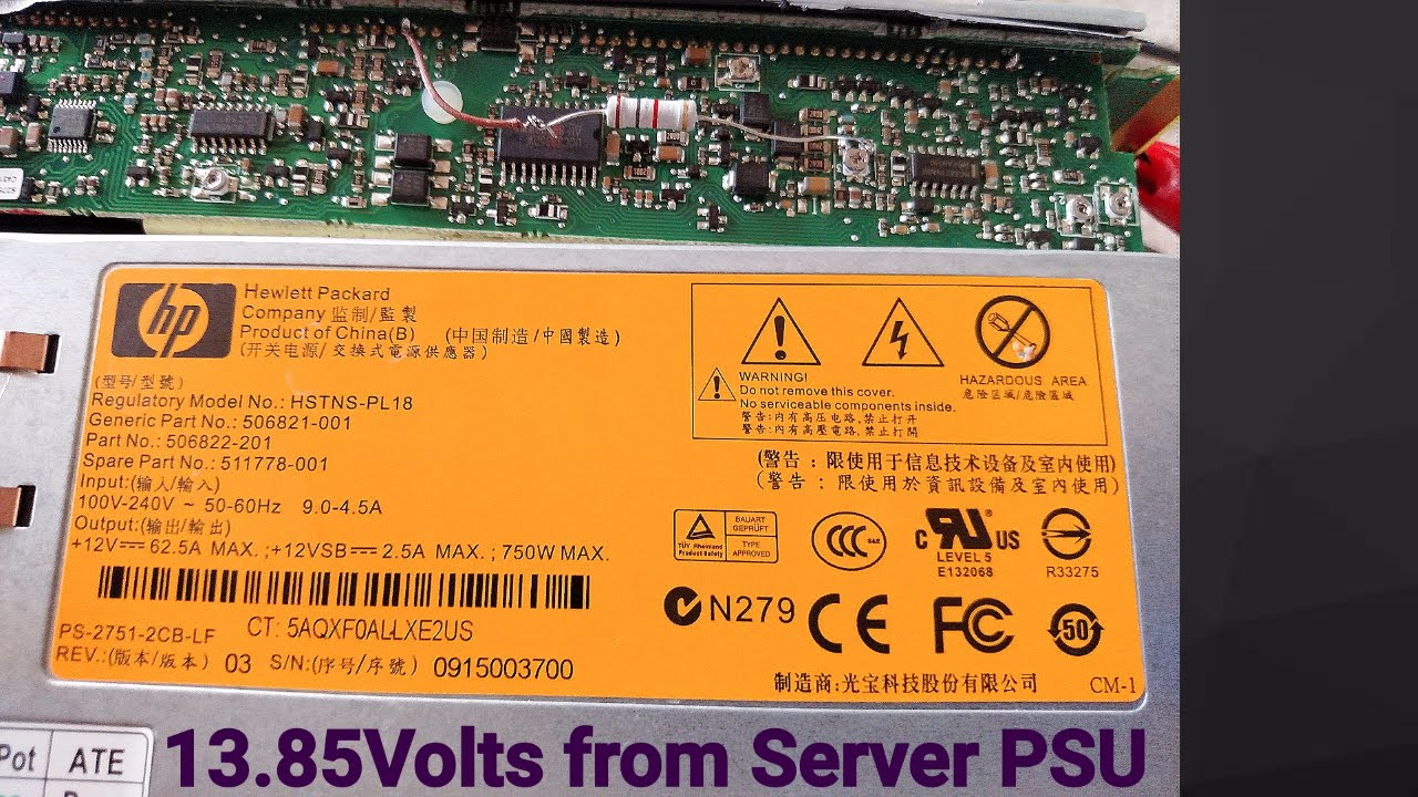 How to increase voltage in HP server power supply