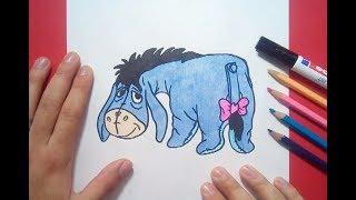 Como dibujar a Igor paso a paso - Winnie de pooh | How to draw Igor - Winnie the pooh