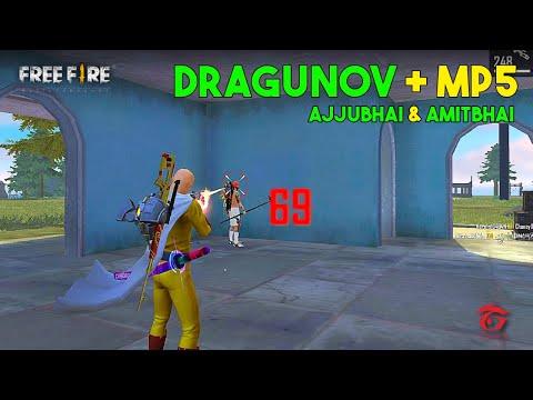 Dragunov+Mp5 Ajjubhai and Amitbhai Duo Vs. Squad OverPower Gameplay - Garena Free Fire
