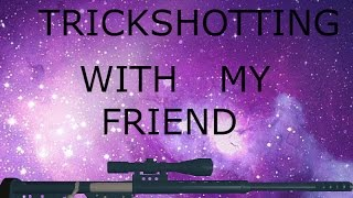 Roblox lets play 22 [Trickshotting with my friend]