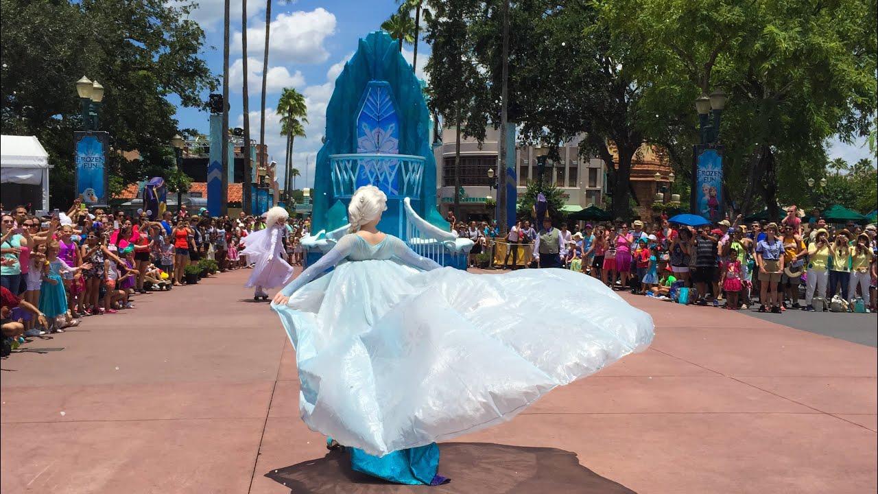 Full Frozen Royal Reception Parade At Disneys Hollywood Studios