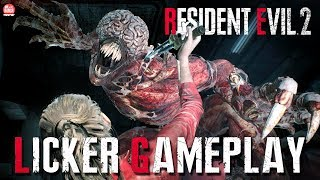 RESIDENT EVIL 2 REMAKE - NOVO GAMEPLAY DA CLAIRE vs LICKERS