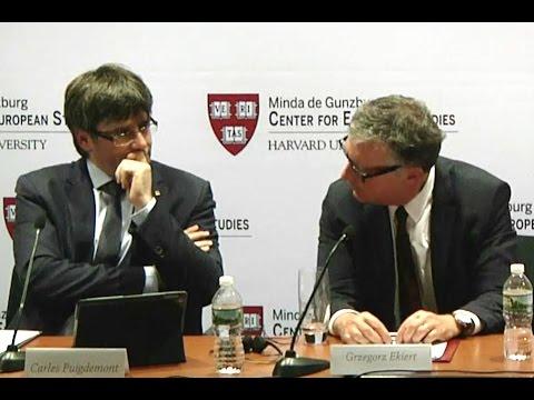 Vea el espantoso ridículo de Puigdemont en Harvard