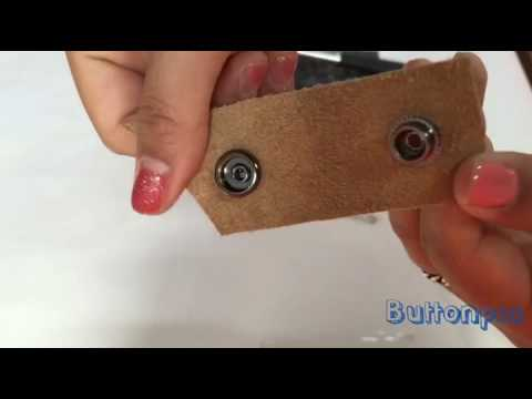 How to attach snap fasteners