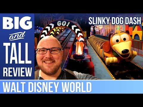 Slinky Dog Dash - Big And Tall Review - Such Amazing Theme On This Fun Little Coaster!