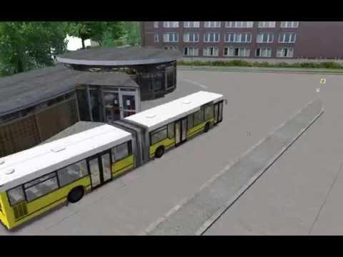Omsi 2 .  bus simulator 2.LINE:X10 -MAPS:BERLIN X10.