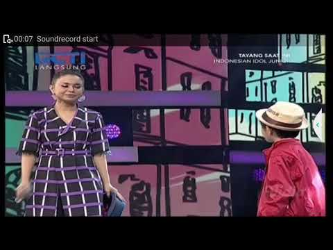 SPECIAL MOMENT.INDONESIA IDOL JUNIOR 2018. ROSA feat laurence