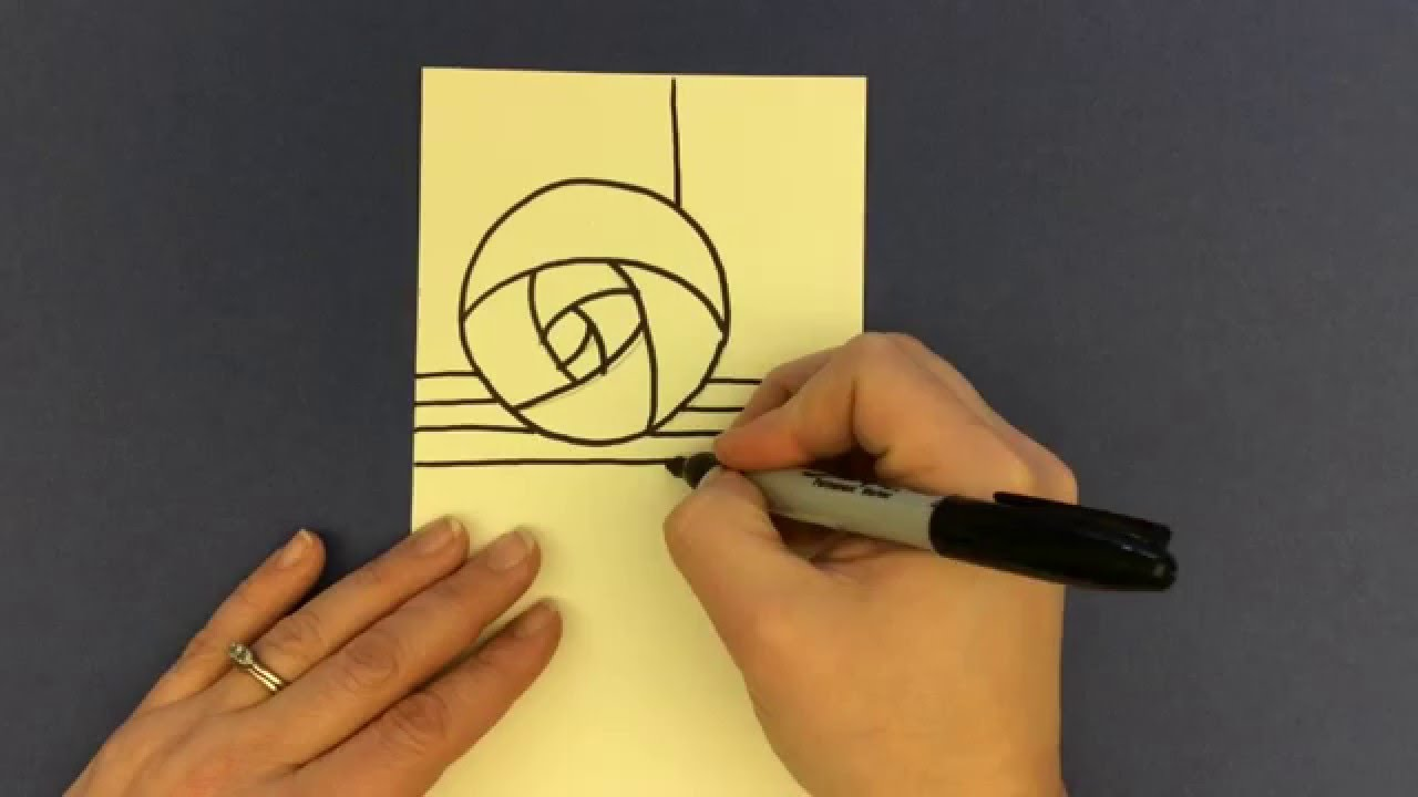 Step 1, Drawing A 'mackintosh' Rose